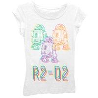 """Girls' """"R2-D2"""" Short Sleeve Graphic T-shirt"""
