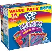 (2 pack) Kellogg's Pop-Tarts Breakfast Toaster Pastries, Wildlicious Frosted Wild Berry Flavored, Value Pack, 30.4 oz (16 Count)