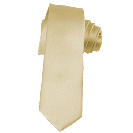 Skinny Champagne Ties by K. Alexander 2 Inch Solid Mens Neckties