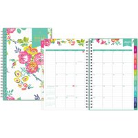 "Day Designer for Blue Sky 2019 Weekly & Monthly Planner, Twin-Wire Binding, 5"" x 8"", Peyton White"