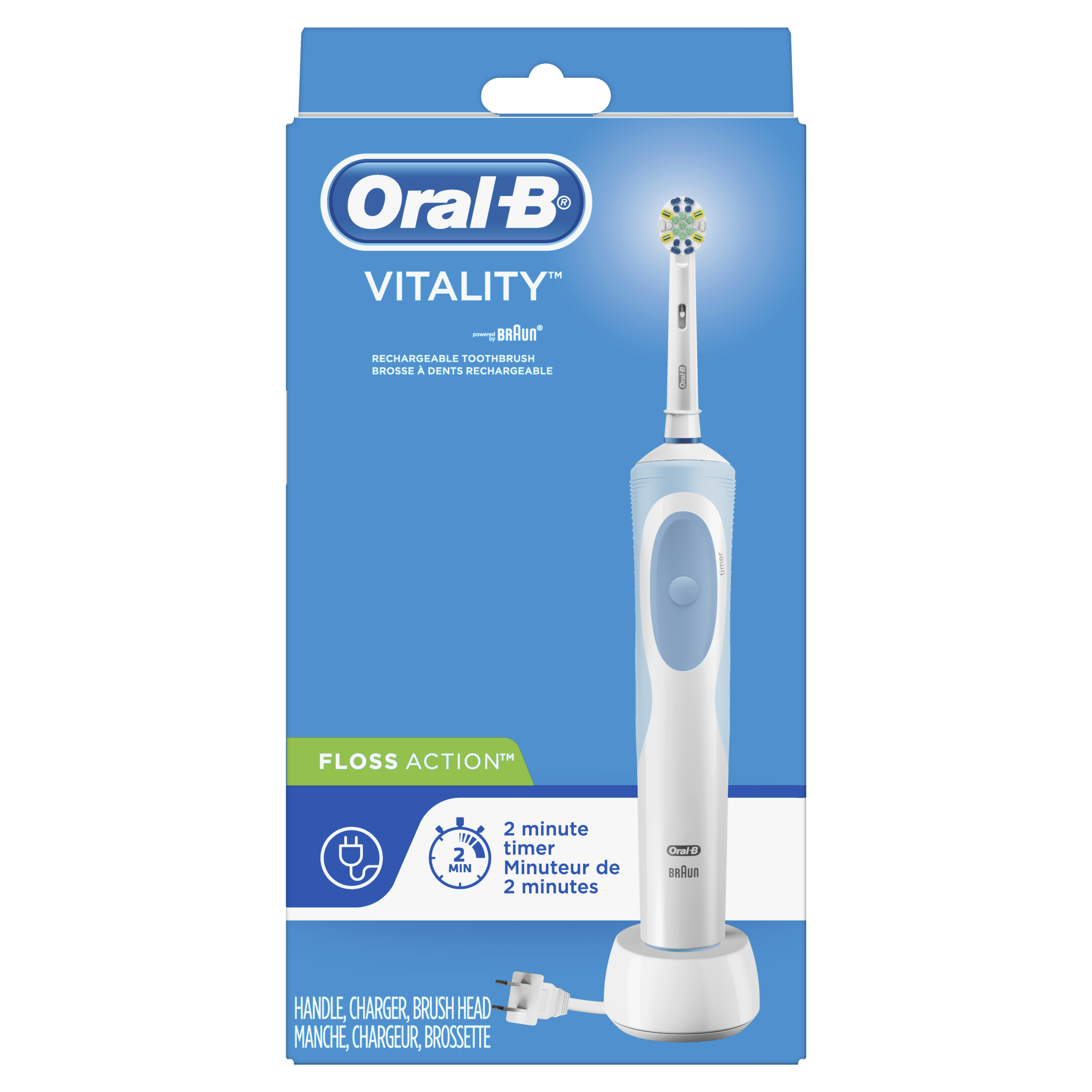Oral-B Vitality FlossAction Rechargeable Battery Electric Toothbrush