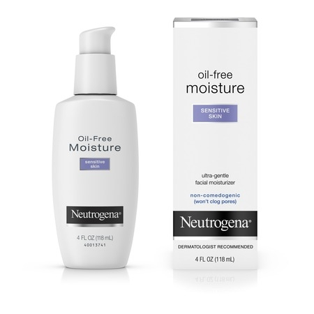 Neutrogena Oil-Free Daily Sensitive Skin Face Moisturizer, 4 fl. (Best Facial Moisturizer For Smooth Skin)
