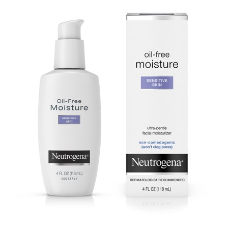 Neutrogena Oil-Free Daily Sensitive Skin Face Moisturizer, 4 fl. (Best Moisturizer For Face Dry Sensitive Skin)