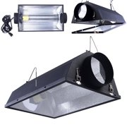 """Costway 6"""" Air Cooled Hood Reflector Hydroponics Light Grow Hydroponic w/ Glass Cover"""
