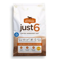 Rachael Ray Nutrish Just 6 Natural Dry Dog Food, Lamb Meal & Brown Rice Limited Ingredient Diet, 14 lbs