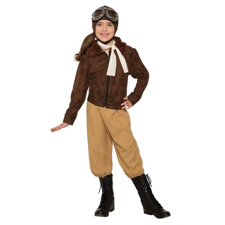Child Amelia Earheart Halloween Costume (Good Halloween Costumes For Elementary Teachers)
