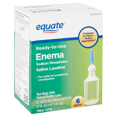 Equate Enema Sodium Phosphates Saline Laxative, 4.5 fl oz, 6