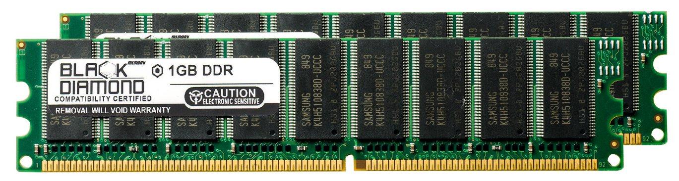 2GB 2X1GB RAM Memory for Abit K Series Motherboard KV8-MAX3 DDR UDIMM 184pin PC2100 266MHz Black Diamond Memory Module Upgrade