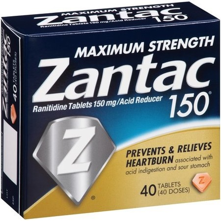 Zantac 150mg Maximum Strength Ranitidine Acid Reducer Tablets, 40ct