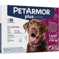 PetArmor Plus Flea & Tick Prevention for Dogs (45-88 lbs), 3 Treatments
