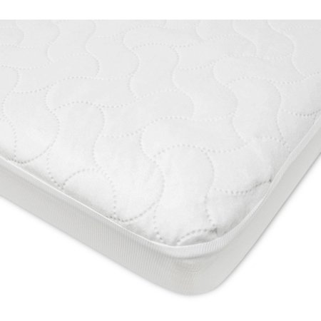 American Baby Company Waterproof Fitted Pack N Play Playard Protective Mattress Pad Cover, White (Toddler Mattress Pads)