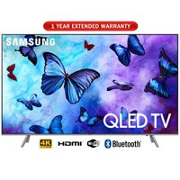 """Samsung 55"""" Class 4K (2160P) Ultra HD Smart QLED TV 2018 Model with 1 Year Extended Warranty"""