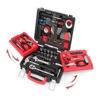Hyper Tough 102-Piece All Purpose Tool Set with Foldout Case
