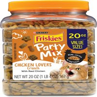 Friskies Party Mix Crunch Chicken Lovers Cat Treats, 20 oz. Canister