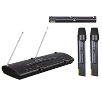 Pyle PDWM2100 - Dual Channel VHF Wireless Microphone System with (2) Handheld Mics
