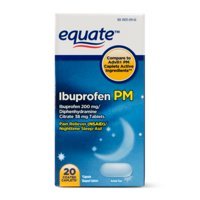 Equate Ibuprofen PM, 200 mg, 20 Coated Caplets