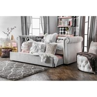 Furniture of America Belassio Twin Daybed with Trundle, Multiple Colors