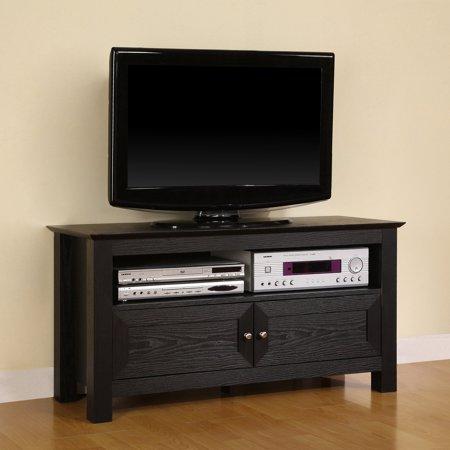 Manor Park Black Tv Stand For Tvs Up To 48 Walmart Com