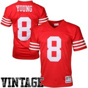 6c36bc5d58a Mens San Francisco 49ers Steve Young Mitchell   Ness Scarlet Retired Player  Vintage Replica Jersey