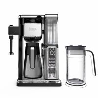 Ninja Coffee Bar Auto-iQ Programmable Coffee Maker with 6 Brew Sizes, 5 Brew Options, Milk Frother, Removable Water Reservoir, Stainless Carafe CF097 (Certified Refurbished)