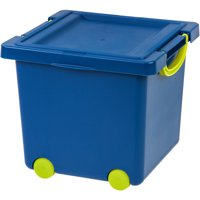 IRIS Toy Storage Box, Blue/Green