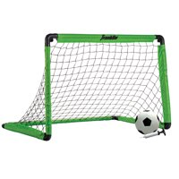 Franklin Sports Backyard 3' Insta-Set Soccer Goal Set for Kids ( Includes Soccer Goal, Ball, Pump, and Stakes)