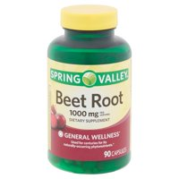 Spring Valley Beet Root Capsules, 1000 mg, 90 count