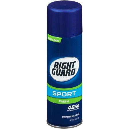 Right Guard Sport Deodorant Aerosol, Fresh, 6.0 Ounce