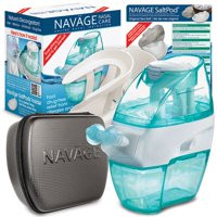 Navage Nasal Irrigation Deluxe Bundle: Navage Nose Cleaner, 48 SaltPod Capsules, Countertop Caddy, and Travel Case. $162.75 if purchased separately. You save 52.80 (32%)