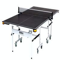 JOOLA Motion 15 Table Tennis Table with Net Set, Ball Holders and Abacus Scorer, 15mm, 9' x 5', Black