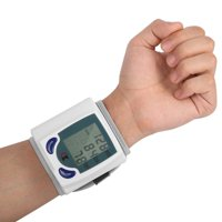 Wrist Blood Pressure Cuff Wrist Monitor Automatic Di gital Sphygmomanometer - BP Machine Measures Pulse, Diastolic and Systolic High Accurate Meter Best Reading High Normal and Low
