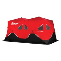 Eskimo FatFish Portable 7-9 Person Pop Up Ice Fishing Shanty Shack Shelter Hut