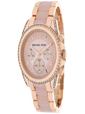 Women's Chronograph Blair Rose Gold Tone Glitz Watch