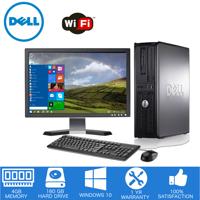 "Dell - Optiplex Desktop Computer PC – Intel Core 2 Duo - 4GB Memory - 160GB Hard Drive - Windows 10 - 19"" LCD"