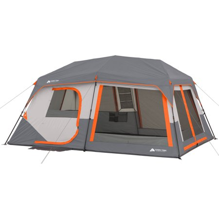 10 Person Cabin Tent - Ozark Trail 10-Person Instant Lighted Cabin Tent