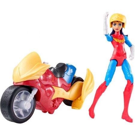 DC Super Hero Girls Wonder Woman & Motorcycle - Motorcycle Dolly Garage