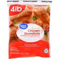 Great Value Frozen Chicken Drumsticks 4.0 Lbs