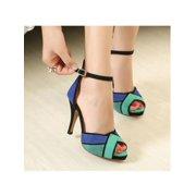 640de28e2d9 Fashion Women Ladies High Heels Stilettos Platform Peep Toe Ankle Strap OL  Sandals