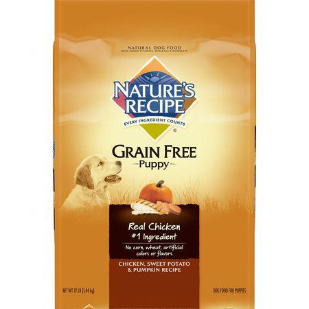 Nature's Recipe Grain Free Puppy Chicken, Sweet Potato & Pumpkin Recipe Dry Dog Food, 12-Pound
