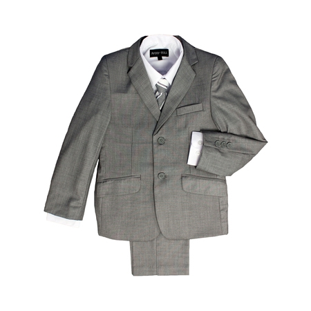 Avery Hill Boys Formal 5 Piece Suit With Shirt, Vest, and Tie](Boys Wool Suits)