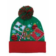 34a4160b2d6 Holiday Mens Green Christmas Beanie Stocking Cap Winter Hat