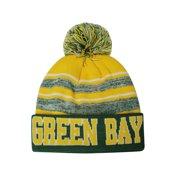 b971290e81053 Green Bay Blended Colors Men s Winter Knit Pom Beanie Hat (Green Gold)