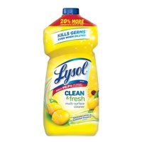 (2 Pack) Lysol Clean & Fresh Multi-Surface Cleaner, Lemon & Sunflower, 48oz