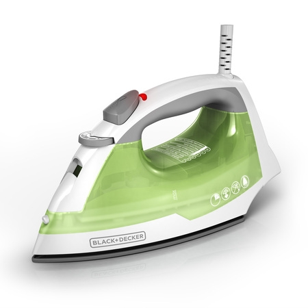 BLACK+DECKER Easy Steam Anti-Drip Compact Steam Iron, Green, IR02V (Weathered Iron)