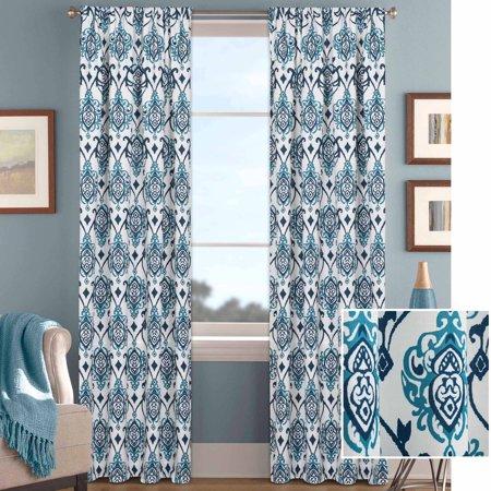 better homes gardens damask scroll curtain panel walmart com rh walmart com