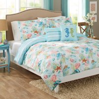 Better Homes & Gardens Full or Queen Beach Day Comforter Set, 5 Piece