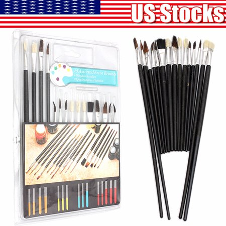 On Clearance 15 Paint Brush Set All Purpose Watercolor Acrylic Art Craft Artist Painting ()