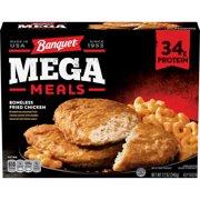 Banquet Mega Meals Boneless Fried Chicken Frozen Dinner, 12 Ounce