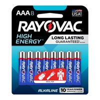 Rayovac High Energy Alkaline, AAA Batteries, 8 Count