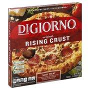DIGIORNO Rising Crust Three Meat Pizza 29.8 oz. Box